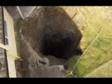 Sinkhole opens right behind house | Scorrier | Cornwall | Egland | UK