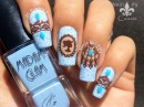 Vintage Delicate Print Stamping Nail Art