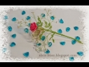 Белые цветочки в букет роз. Часть 4.