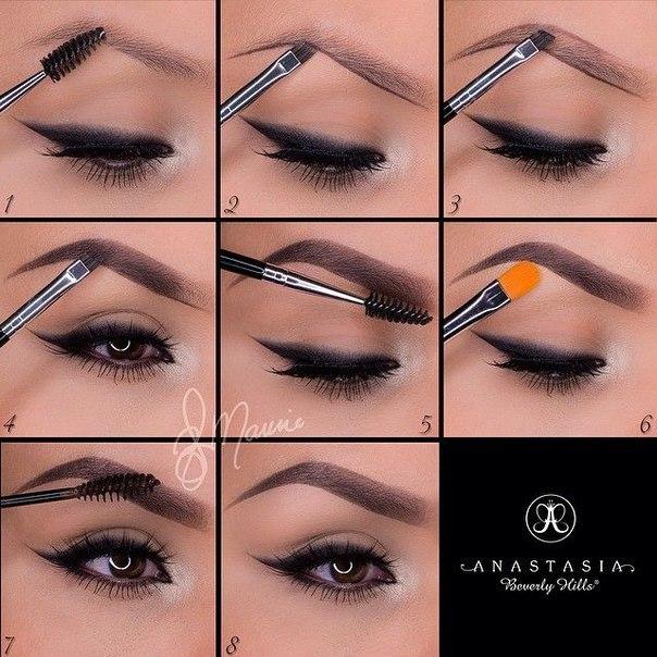 Как сделать красивые брови пошаговое