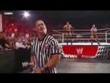 WWE Raw 24-1-11 Nexus CM Punk vs. Corre Wade Barrett Referee John Cena