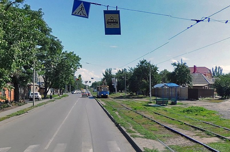 Ровно через месяц в Таганроге восстановят трамвайную остановку «Ул. Александровская»