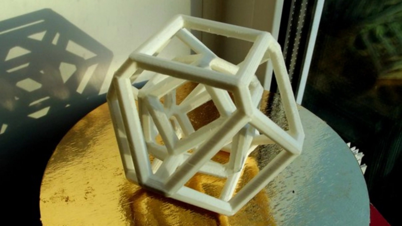 3D принтер CubeX сложный объект на основе примитива