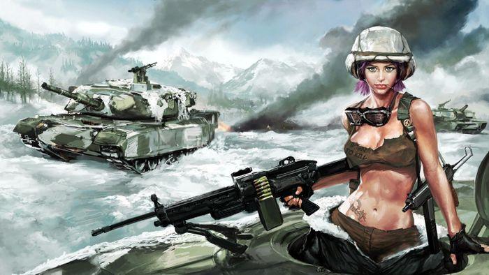 Женская армия - как бы это было (прикол)