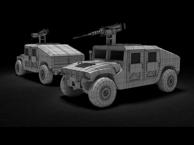Modeling Humvee 3ds max tutorial part - 3