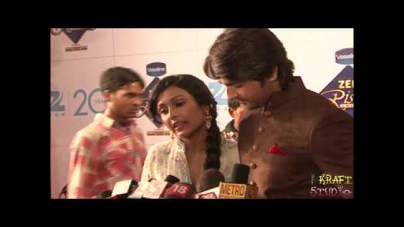TV Couple Ashish Sharma Archana Taide at Zee Rishtey Awards 2012