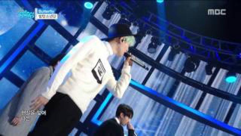 [HOT] BTS - Butterfly, 방탄소년단 - 버터플라이, Show Music core 20160102