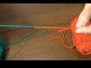 Как соединить две нитки без узла при вязании.
