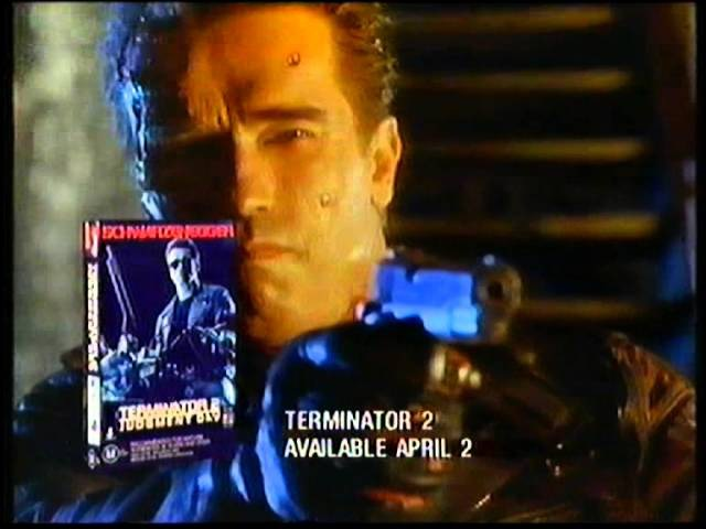 Terminator 2 Movie Trailer - Turn On To Video Anytime (VHS)