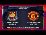 West Ham United vs Manchester United 1-1 14 May 1995 Premier League