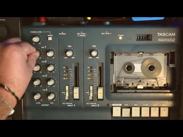 TASCAM 4 TRACK CASSETTE RECORDER AMBIENT TAPE LOOP DRONE IN E