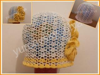 0  Как связать простую ажурную шапочку, образец