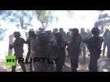 01.05.16.Франция. Париж: столкновения демонстрантов с полицией из-за трудовой реформы