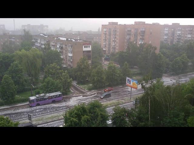 Град злива у м Луцьк 09 06 2016 Потоп