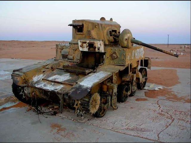 World War II Tank Vehicle Relics in Libya