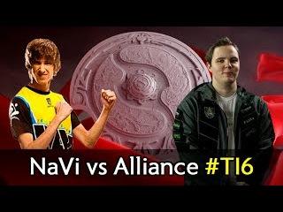 NaVi vs Alliance level 1 Roshan and Dendi Brewmaster — The International 2016