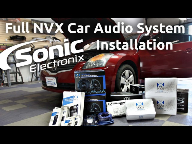 Car Audio Installation - 2008 Nissan Altima Full NVX System - Speakers, Subs more