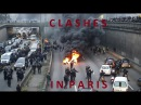 Violent clashes in Paris Tear gas burning tires as anti-Uber protest grips French capital
