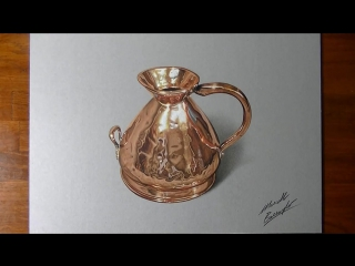 Медный кувшин. How I draw a copper jug