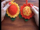 DIY Игольница. Цветок. Вязание крючком