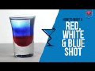 Red, White and Blue Shot - How to make a Red, White and Blue Cocktail Recipe by Drink Lab (Popular)