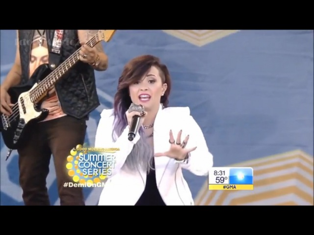 [HD] Demi Lovato ~ Really Don't Care (feat. Cher Lloyd) ~ GMA Concert 06 06 2014