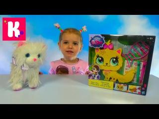 Кошечка с украшениями Литлест Пет Шоп ЛПС игрушка распаковка LPS kittie toy with stikers