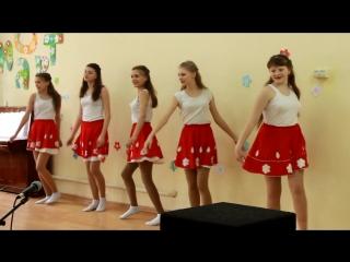 4.03.2016 концерт посвященный 8 марта 8 класс танец