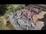 Укладка камней в печь для бани, сауны