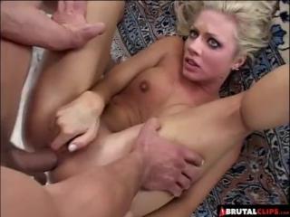 Brutalclips - poor blonde gets slapped and brutally fucked -