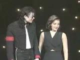 Michael Jackson &amp Lisa Marie Presley share a kiss onstage