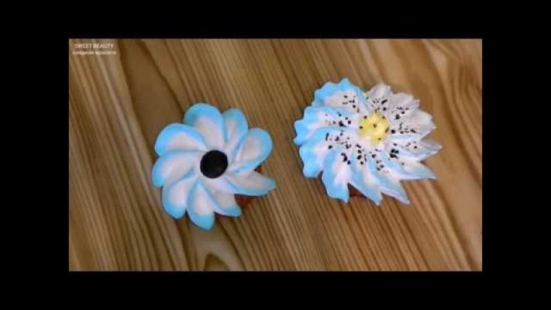 украшение тортов-как сделать цветок из крема (2), cake decoration-cream flower (2)