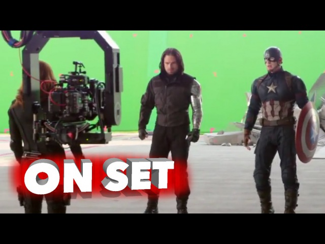 Captain America Civil War Behind the Scenes Movie Broll Scarlett Johansson Chris Evans
