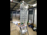 Gravity power generator based on fluid-air displacement SAMPLE TEST