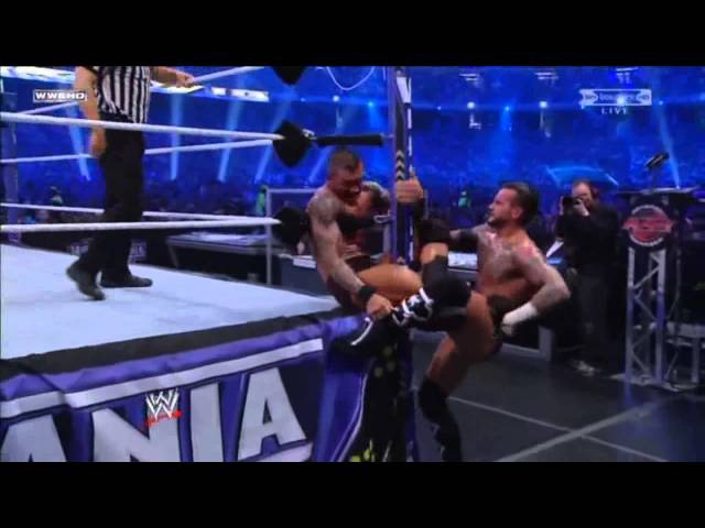 WWE Wrestlemania 27 - CM Punk vs Randy Orton - Highlights HD