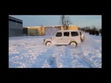 My snow drift in my buddies' AMG G55. DRIFT. 2016.