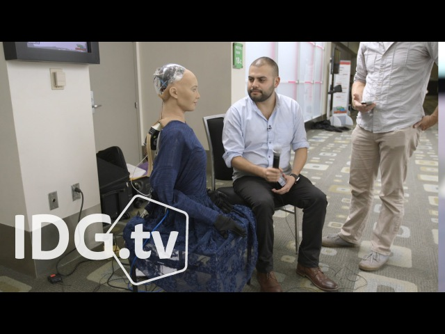 Female humanoid robot Sophia is a celebrity at SXSW