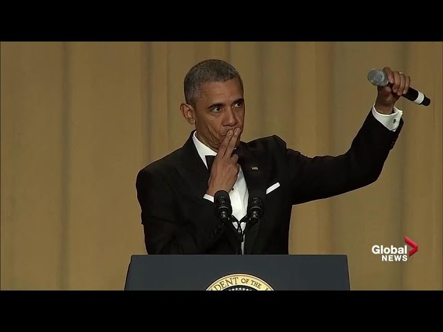 Obama out President Barack Obamas hilarious final White House correspondents dinner speech
