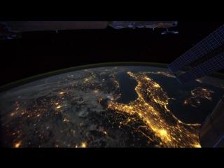 мкс_ ночной полет над землей