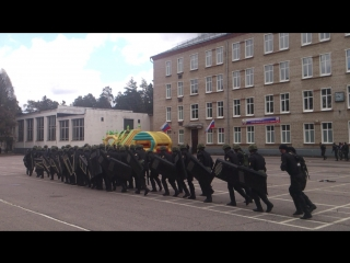 Показательное выступление бойцов батальона оперативного резерва Президентского полка