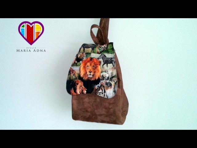 Vídeo de mochila de tecido Janee. DIY. How to make a fabric backpack. Sew a fabric backpack tutorial