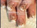 Wedding Nails! Vintage Flower Bride Nail Art Design Tutorial (Kayla)