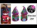 Come fare una casina degli gnomi con un barattolo | Fairy House Jar Polymer Clay Tutorial