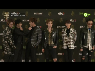 [CUT] 21.01.2016 BEAST - Red Carpet @ QTV 30th Golden Disk Awards