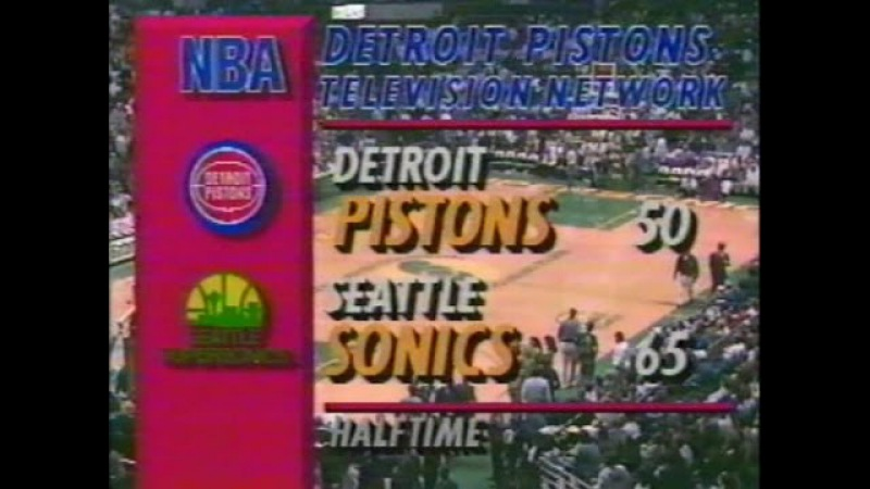 NBA 1992-1993 / RS / 21.11.1992 / Detroit Pistons - Seattle Supersonics