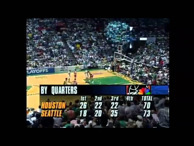 NBA 1992-1993 / Playoff / 22.05.93 / Houston Rockets - Seattle SuperSonics / WCSF / Game 7