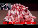 100 LAYERS OF USED TAMPONS