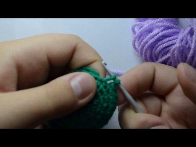 Видеоурок 3.Меняем цвет пряжи при вязании крючкомСбнВп.от Бени :3