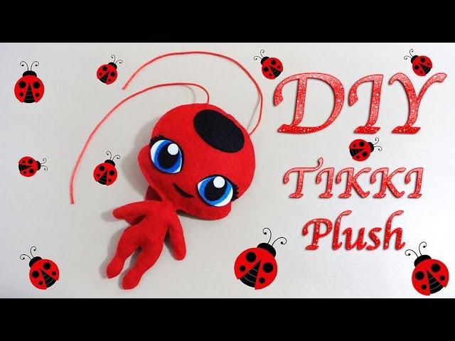 MIRACULOUS LADYBUG TIKKI PLUSH | PELUCHE DE TIKKI | COMO HACER | KWAMI | DIY - YuureYCrafts