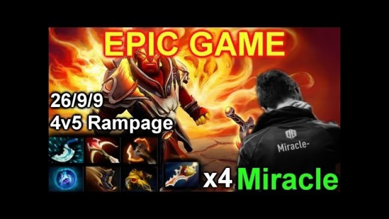 Miracle Ember Spirit So Epic @ 4v5 Rampage
